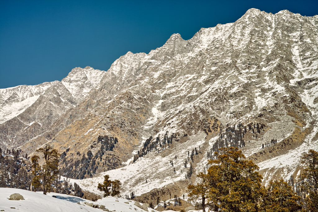 Indrahar Pass and Dhauladhars from Snow Line Cafe, Triund, are a touching Distance